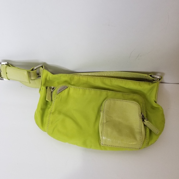 Francesco Biasia Green Nylon Leather Purse